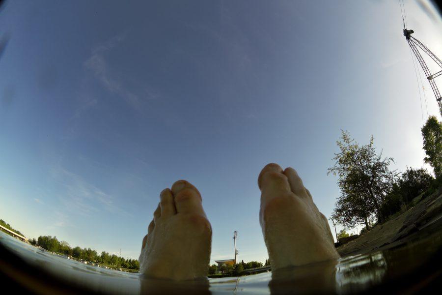 Day 29 Morning dip and swim at Tuira Beach
